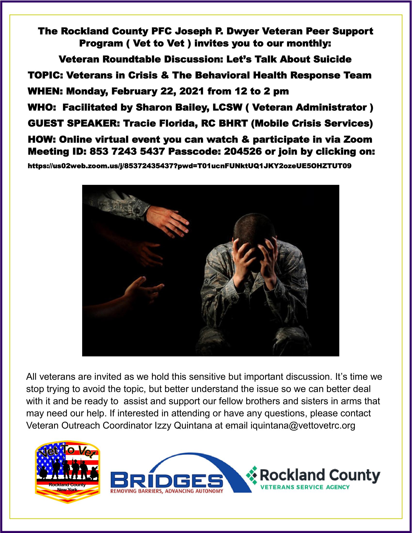 Suicide Veteran Rountable Feb 22 1
